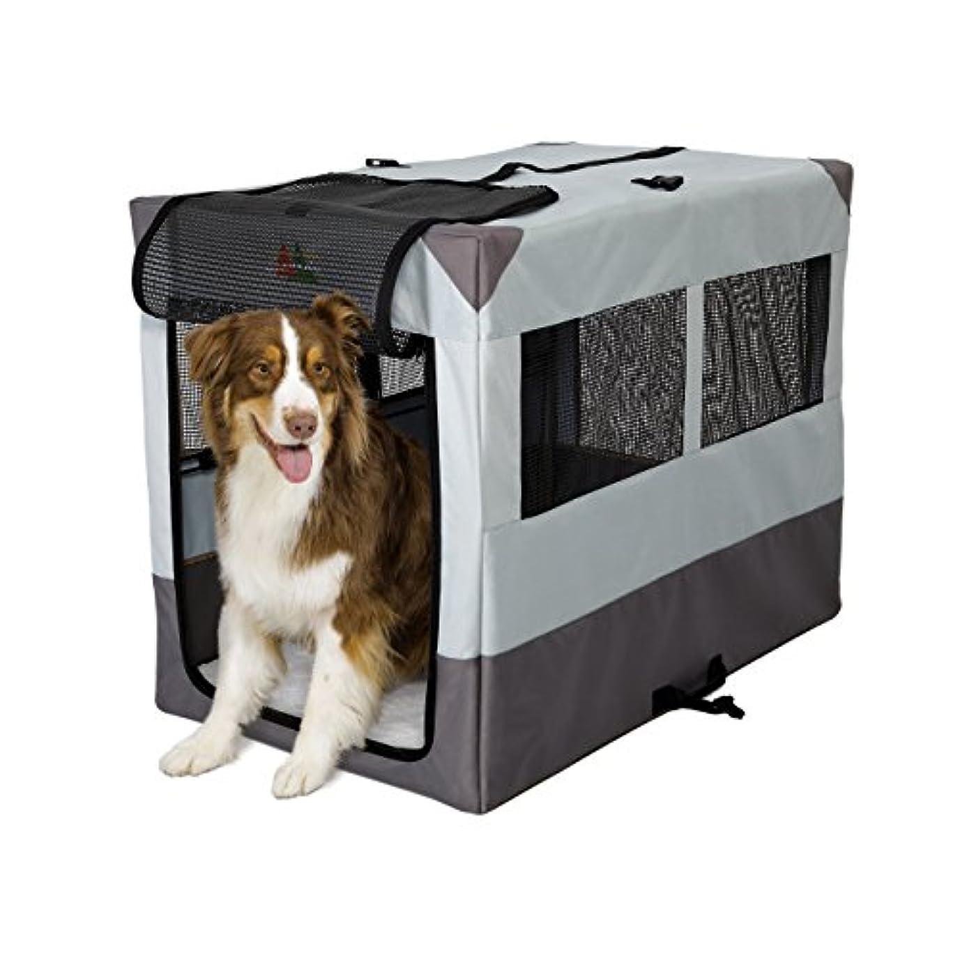 船乗り本当のことを言うと生き物Midwest Sportable Canine Camper Portable Tent Crate 42 X 26 X 32 Gray 1742SP