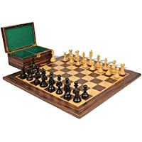 新しいExclusive Stauntonチェスセットin Ebonized Boxwood & Boxwood with Macassar Ebonyボード&ボックス – 3