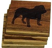 Engravedさまざまな犬種のコースター( 4つのセット)