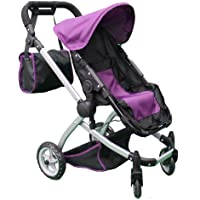 Mommy & Me Deluxe Babyboo Doll Stroller with Swiveling Wheels (color OFF WHITE & BLACK) with Free Carriage Bag (Multi Function View All Photos) - 9651C-OFFW by Mommy & Me Doll Collection [並行輸入品]