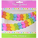 Amscan Decorative Multi-Colored Party Paper Garland 12 Pieces [並行輸入品]