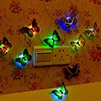 Colorful LED Nigh Lights Butterfly Shape Wall Paste Home Decor For Kids Room Durable Energy-Saving Decorative Lamp
