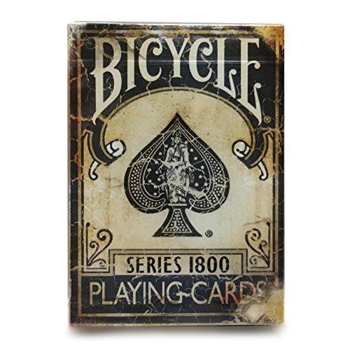 BICYCLE(バイスクル)リアルな退廃デザインが美しい 『バイスクル 1800 ヴィンテージ トランプ グレイッシュブルー』カードマジック 手品[並行輸入品][E288]