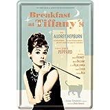 オードリーヘップバーン Breakfast at Tiffanys Blue / ポストカード(ブリキ製)