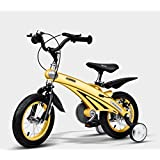Baby Carriage Air Magnesium Alloy Children's Bicycle 2-6 Years Old Men and Women Baby Bikes 12,14,16 Inch Kids Tricycles (Color : Yellow, Size : 14 inches)
