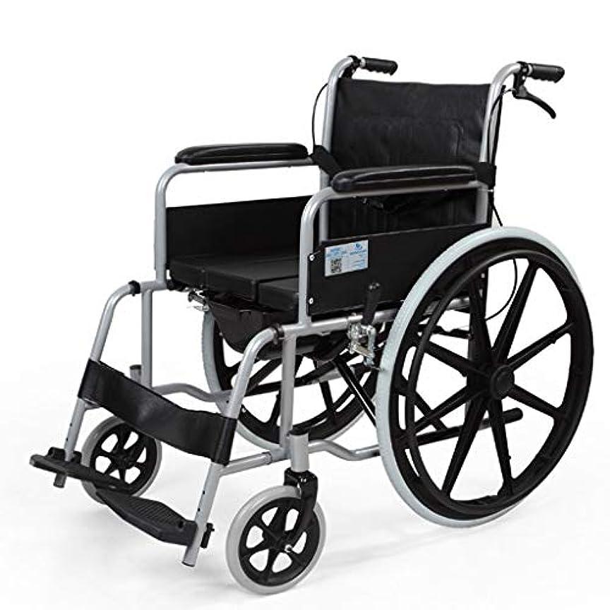 ナイトスポット時々時々富高齢者用車椅子、4つのブレーキ、軽量アルミニウム折りたたみ式自走式車椅子