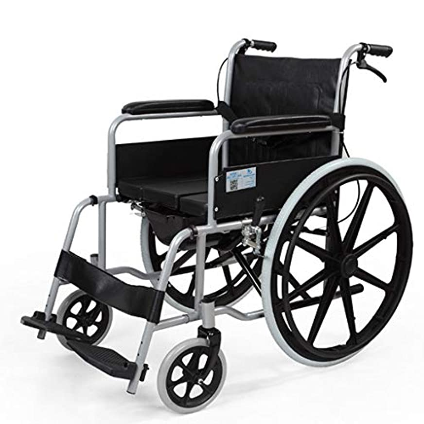正しいロッジ数学高齢者用車椅子、4つのブレーキ、軽量アルミニウム折りたたみ式自走式車椅子