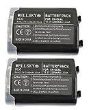 【WELLSKY】 『2個セット』 パナソニックセル Nikon ニコン ● EN-EL4 / EN-EL4a 互換バッテリー ● 純正充電器で充電可能 残量表示可能 純正品と同じよう使用可能 ● D700 / D300s / D300 / D2Hs / D3 / D3S / D3X