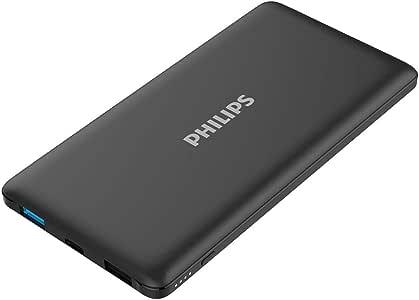 フィリップス PHILIPS モバイルバッテリー 10000mAh 大容量 軽量 薄型 急速充電 Type-C 残量表示 PSEマーク認証取得 スマホ タブレット iPhone GALAXY Xperia DLP6712N (ブラック)