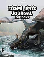 Sermon Notes Journal For Boys: Children Kids Girls Prayer Notebook Worship Activity Book | Dragon Drinking Water Cover Print