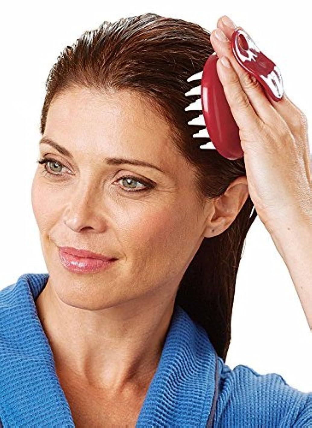 チラチラするアドバイスコンパクトSet of 2 Shampoo and Scalp Hair Washing Comb Massager Brush [並行輸入品]