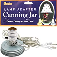 Canning Jar Lamp Adapter 1/Pkg-Zinc, Small Mouth, Silver Cord (並行輸入品)