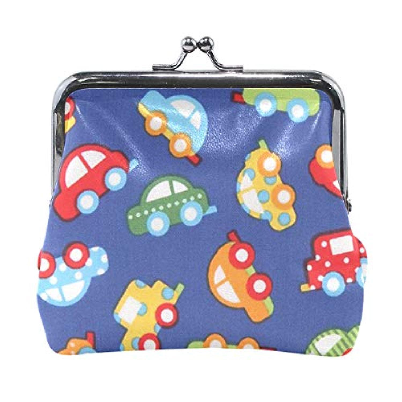 がま口 小銭入れ 財布 おもちゃ 車 コインケース レザー製 丸形 軽量 人気 おしゃれ プレゼント ギフト 雑貨