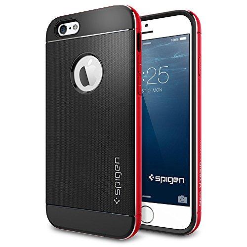 iPhone 6 ケース, Spigen® [ リアル アルミニウム バンパー] ネオ・ハイブリッド メタル iPhone 4.7 (2014)  The New iPhone アイフォン6 (国内正規品) (メタル・レッド 【SGP11040】)