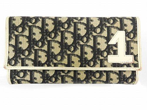 [クリスチャン・ディオール] Christian Dior 長財布 トロッター キャンバス×レザー X15516 中古