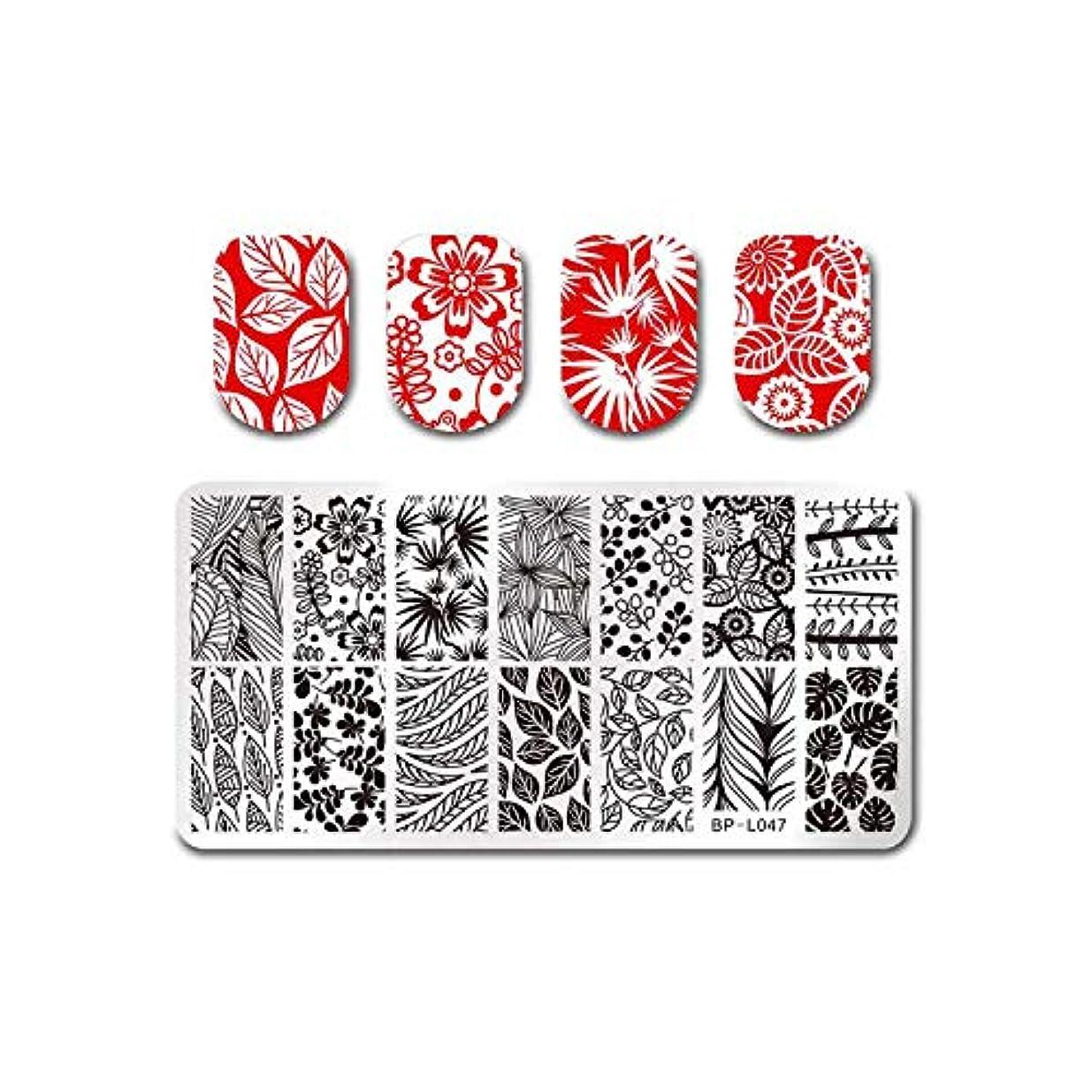 飢えた磁器戻るフルーツネイルアートスタンピングテンプレートトロピカルパンチパターン長方形イメージプレートスタンピング,BP-L047