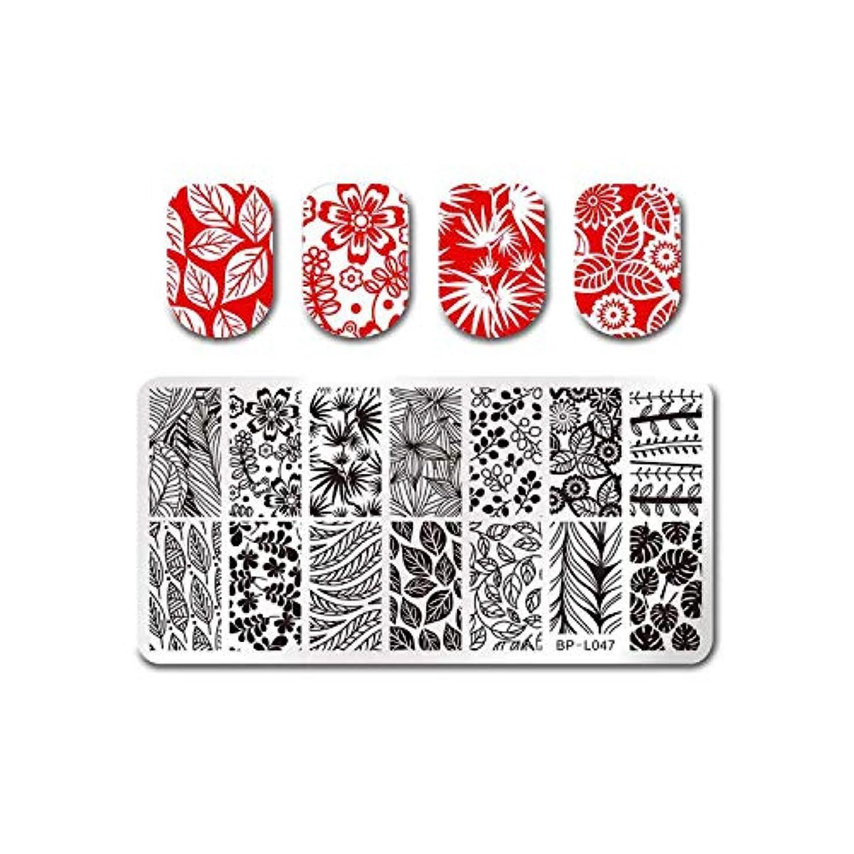 クール等透けて見えるフルーツネイルアートスタンピングテンプレートトロピカルパンチパターン長方形イメージプレートスタンピング,BP-L047