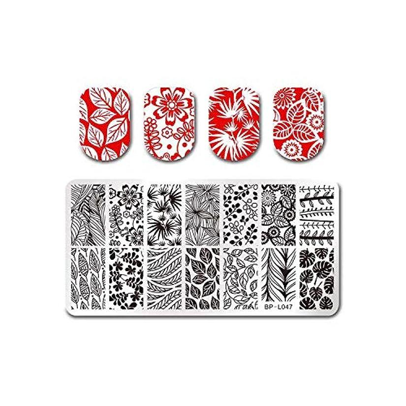 持っている涙適切にフルーツネイルアートスタンピングテンプレートトロピカルパンチパターン長方形イメージプレートスタンピング,BP-L047