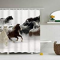 シャワーカーテン バスカーテン 防水 防カビ加工 おしゃれ 風呂カーテン 洗面所 間仕切り 遮像 目隠し 高級 リング付属 厚手 取り付け簡単 うま