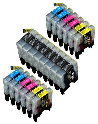 【ノーブランド品】(20 色セット) Brother LC12 ブラザー 【互換インクカートリッジ 】 (DCP-J525N, DCP-J925N, DCP-J940N, MFC-J705D, MFC-J825N, MFC-J955D, MFC-J6710CDW, MFC-J6910CDW)