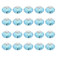 Blesiya アクリルビーズ 20個  ビーズパーツ プラスチックビーズ ジュエリーパーツ 全2色 - スカイブルー