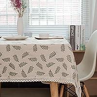 テーブルクロス リビングルームコーヒーテーブルダイニングテーブル綿とリネンテーブルクロス , C , 120*120cm