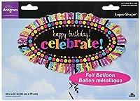 Amscan International Super Shape Happy Birthday Rainbow Celebration