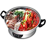 Electric Hotpot by Galaxy Tiger SET-500N Stainless Steel Shabu Shabu Steamboat Hot Pot with Divider 1600W Perfect for Family