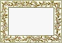 ゴールドHollyトリムフォトホルダー–ボックスof 18Designer Greetingsクリスマスカード