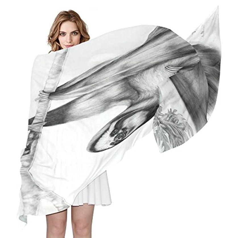 ネットロイヤリティオペレーターwdysecretナマケモノシルク印刷スカーフの女性70.86 X 35.4 ( in )