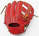 Ip select アイピーセレクトアイピーステアレザースタンダードコレクション 内野手用 野球 硬式用グローブ Ip.042-Ss レッドオレンジ LH