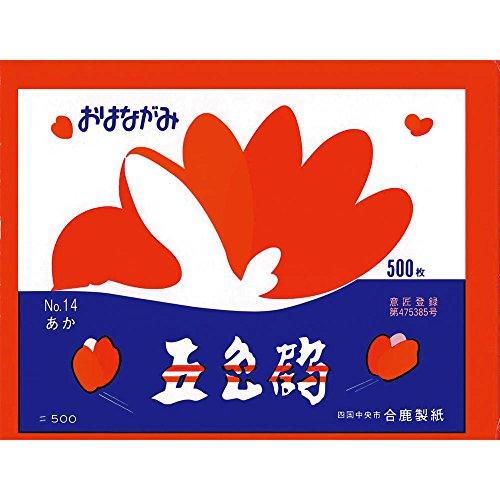 [해외]合鹿 제지 문의 鼻紙 오색 학 500 매 아카 3P (1500 매)/Akagi Paper Making Oyakami Goshiki 500 Cherry Blossoms 3 P (1500 Sheets)