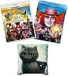 【Amazon.co.jp限定】 アリス・イン・ワンダーランド/時間の旅 MovieNEXプラス3D:オンライン予約限定商品 [ブルーレイ3D+ブルーレイ+DVD+デジタルコピー(クラウド対応)+MovieNEXワールド] (オリジナルミニクッション付) [Blu-ray]