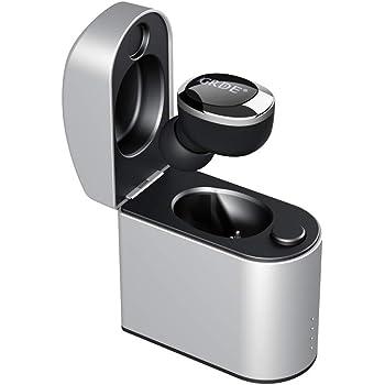 4.2 Bluetoothイヤホン 完全 ワイヤレス ヘッドセット 片耳 ミニサイズ 軽量 装着快適 ハンズフリー通話 マイク内蔵 ノイズキャンセリング搭載 高音質 ワンボタン設計 充電用ケース付属 iPhone&Android対応 運動/仕事/運転などに