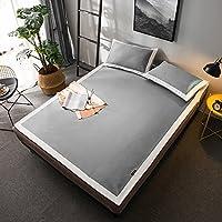 ベッドマシンのための夏の冷却マットレスセットウォッシャブルスリーピングマットレス折り畳み式,Grey,King