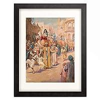 James Shaw Crompton 「An Arab Wedding Procession Through Cairo.」 額装アート作品