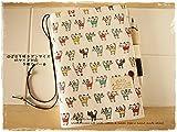 ほぼ日手帳対応カバーカズンサイズ A5手帳カバー カラフルにゃんこ 猫 猫柄 ねこ