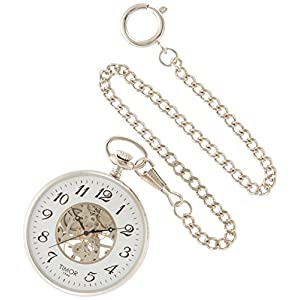 [ティモール]TIMOR 懐中時計 ポケットウォッチ オープンフェイス 手巻き TP103CH02 【正規輸入品】