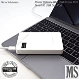 USB-C USB PD:Power Delivery Power Supply (Portable, White) DC 5V/9V/15V/20V 3A