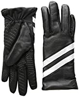 U|R Junior's Leather Glove with Stripes Black S/M [並行輸入品]