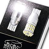 ぶーぶーマテリアル T10 LED 凄く明るい ポジションランプ T16 ホワイト 白 12-30V 無極性 2個