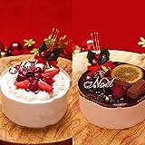 天使のおくりもの クリスマスケーキ2018 (生チョコトルテ・ホワイトベリー 4号セット)