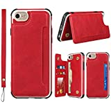For iPhone SE 2020 Case,for iPhone SE2 Case,for for iPhone 6 6s 7 8 Case,Jaorty Leather Back Cover Phone Shell Case with Kick