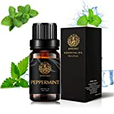Aromatherapy Essential Oils, Peppermint Aromatherapy Essential Oils (0.33 oz - 10ml), 100% Pure Essential Oils Peppermint Scent for Diffuser, Humidifier, Massage, Aromatherapy, Skin & Hair Care