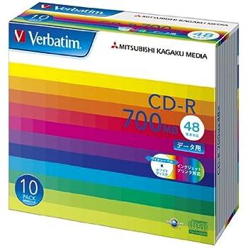 三菱ケミカルメディア Verbatim 1回記録用 CD-R SR80SP10V1 (48倍速/10枚)