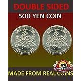 両面印刷の日本の500円コイン - ¥ 500両面コイン - レアルコイン製 - 尾側 - Double Sided Japanese 500 Yen Coin - ¥500 Double Sided Coin - Made by Real Coins - Tails Side