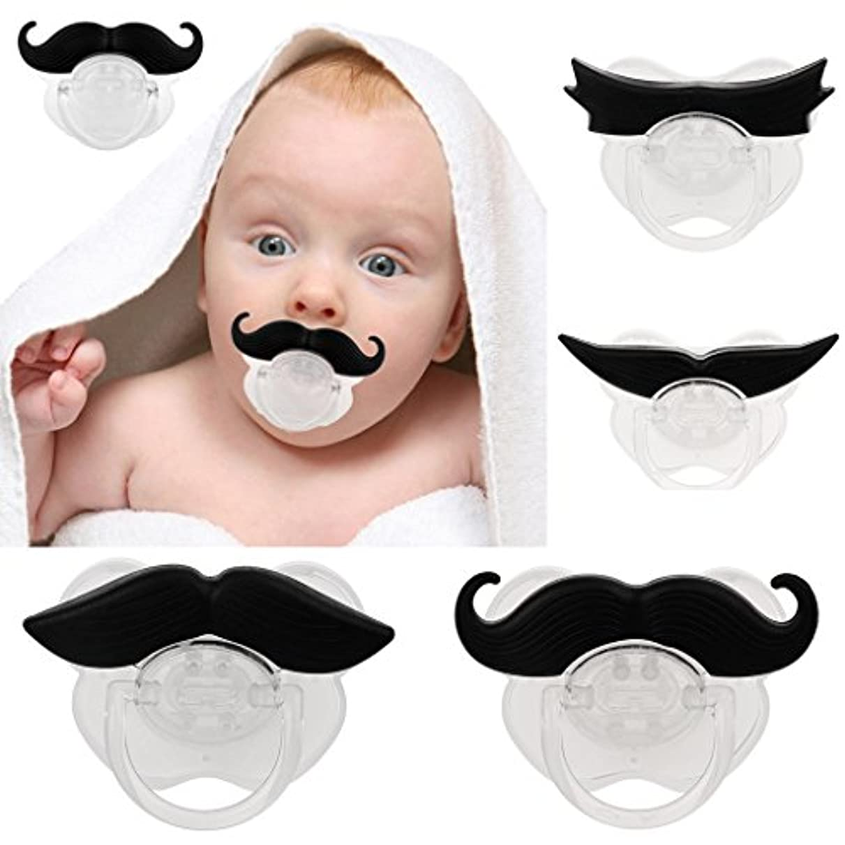 大胆な追放する洋服面白い髭口ひげ赤ちゃんのおしゃぶり歯列矯正ダミー乳児ニップル#3
