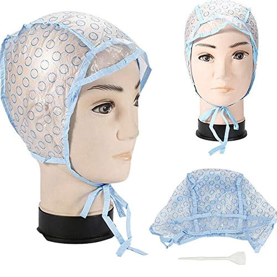 強調表示キャップ、ホームサロンの使用のためのプラスチック製のフック付き使い捨て髪強調表示サロン髪の着色染料キャップ