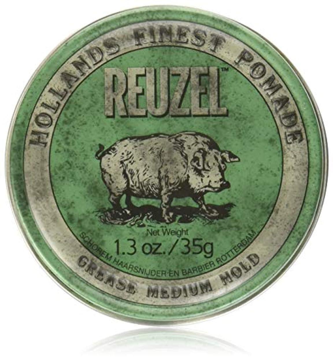 西致命的発表REUZEL Grease Hold Hair Styling Pomade Piglet Wax/Gel, Medium, Green, 1.3 oz, 35g by REUZEL