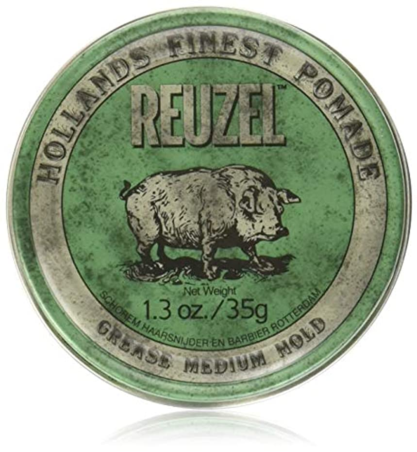 ギャラリースリップシューズカードREUZEL Grease Hold Hair Styling Pomade Piglet Wax/Gel, Medium, Green, 1.3 oz, 35g by REUZEL